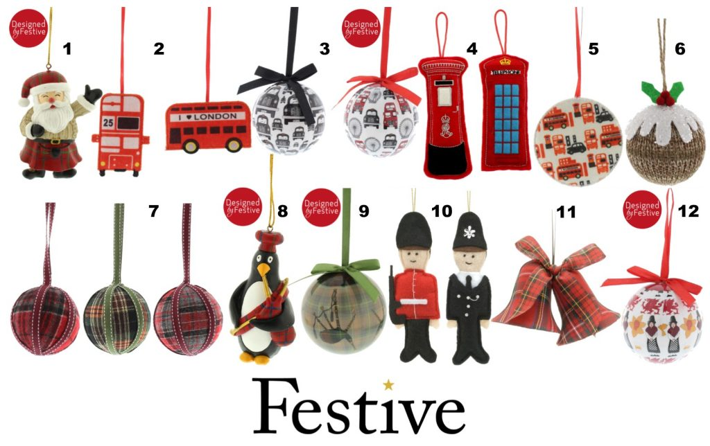10cm Scottish Santa (P010551) - British Christmas Decorations